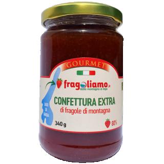 Confettura extra di fragole di montagna 80%, g 340