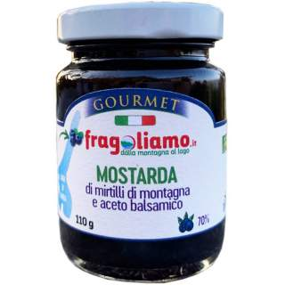 Mountain blueberry mustard and 70% balsamic vinegar