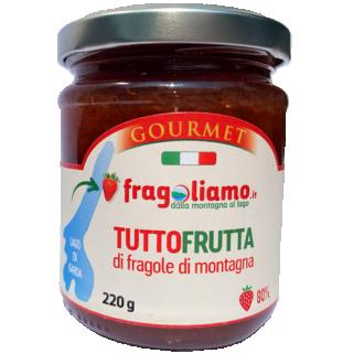 Tuttofrutta di fragole di montagna 220gr. Sugar Free.
